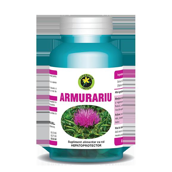 Silimarină forte (Extract de Armurariu), 8800 mg, 90 capsule-Hepatoprotector